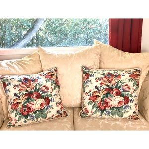 Shabby Chic Cabbage Rose Pillows